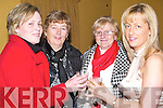 RAISING: Judy and Marie Diggin (Causeway), Anne O'Connor (Ballyduff) and Martha Barrett (Causeway) raise their glasses to celebrate Women's Christmas on Sunday night at Harty's Bar & Restaurant, Causeway.   Copyright Kerry's Eye 2008
