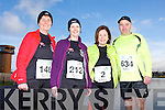 Monica Lynch, Siobhan Falvey, Caroline Lynch and Colm Lynch at the Valentines 10 mile road race in Tralee on Saturday.