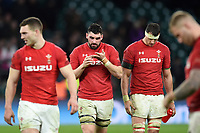 Wales players leave the field dejected. Natwest 6 Nations match between England and Wales on February 10, 2018 at Twickenham Stadium in London, England. Photo by: Patrick Khachfe / Onside Images