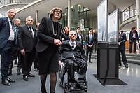 """Die bisher nur in den USA gezeigte Ausstellung """"Einige waren Nachbarn: Taeterschaft, Mitlaeufertum und Widerstand waehrend des Holocaust"""" des United States Holocaust Memorial Museum wurde anlaesslich des Gedenktags fuer die Opfer des Nationalsozialismus, am Donnerstag den 31. Januar 2019, im Paul-Loebe Haus des Deutschen Bundestag vom Bundestagspraesidenten Wolfgang Schaeuble (rechts) und der Direktorin des Holocaust Memorial Museum, Sara J. Bloomfield (links) eroeffnet. Die Ausstellung wird erstmals in Deutschland praesentiert. Mit ihr wollen die Ausstellungsmacher aufzeigen, welche Beweggruende und Druckmittel die Entscheidungen und Verhaltensweisen einzelner Menschen waehrend des Holocausts beeinflussten und wie die Menschen auf die Noete ihrer juedischen Klassenkameraden, Kollegen, Nachbarn und Freunde reagierten.<br /> Im Bild hinter Bloomfield vlnr.: Volker Beck, Buendnis 90/Die Gruenen und Jeremy Issacharoff, israelischer Botschafter.<br /> 31.1.2019, Berlin<br /> Copyright: Christian-Ditsch.de<br /> [Inhaltsveraendernde Manipulation des Fotos nur nach ausdruecklicher Genehmigung des Fotografen. Vereinbarungen ueber Abtretung von Persoenlichkeitsrechten/Model Release der abgebildeten Person/Personen liegen nicht vor. NO MODEL RELEASE! Nur fuer Redaktionelle Zwecke. Don't publish without copyright Christian-Ditsch.de, Veroeffentlichung nur mit Fotografennennung, sowie gegen Honorar, MwSt. und Beleg. Konto: I N G - D i B a, IBAN DE58500105175400192269, BIC INGDDEFFXXX, Kontakt: post@christian-ditsch.de<br /> Bei der Bearbeitung der Dateiinformationen darf die Urheberkennzeichnung in den EXIF- und  IPTC-Daten nicht entfernt werden, diese sind in digitalen Medien nach §95c UrhG rechtlich geschuetzt. Der Urhebervermerk wird gemaess §13 UrhG verlangt.]"""