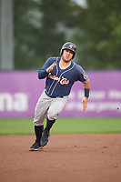 New Hampshire Fisher Cats right fielder Connor Panas (15) runs the bases during a game against the Trenton Thunder on August 19, 2018 at ARM & HAMMER Park in Trenton, New Jersey.  New Hampshire defeated Trenton 12-1.  (Mike Janes/Four Seam Images)