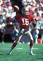 San Francisco 49ers Joe Montana  (16) during a game from his 1990 season.  Joe Montana  played for 15 years with 2 different teams, was a  8-time Pro Bowler and was inducted to the Pro Football Hall of Fame in 2000.