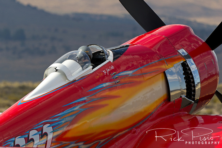 Pilot Hoot Gibson waits for the signal to start engines in the Hawker Sea Fury 232 at the 2013 National Championship Air Races in Reno, Nevada.