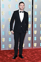 Jamie Bell<br /> arriving for the BAFTA Film Awards 2019 at the Royal Albert Hall, London<br /> <br /> ©Ash Knotek  D3478  10/02/2019