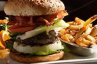 Montreal QC CANADA - 2008 file Photo -hamburger and french fries.