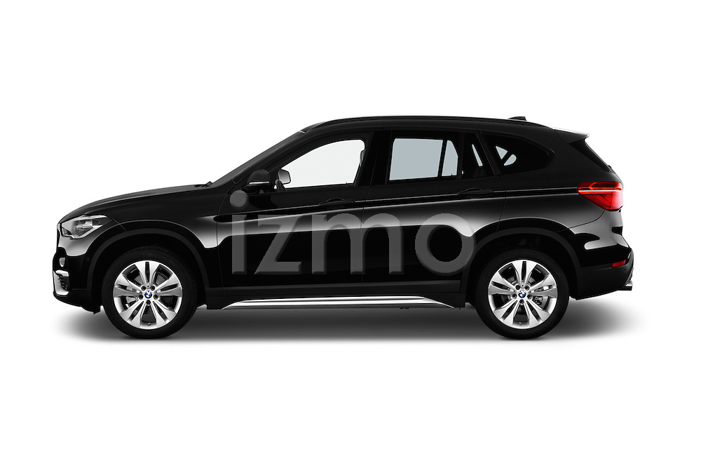 Car Driver side profile view of a 2016 BMW X1 xLine 5 Door Suv Side View