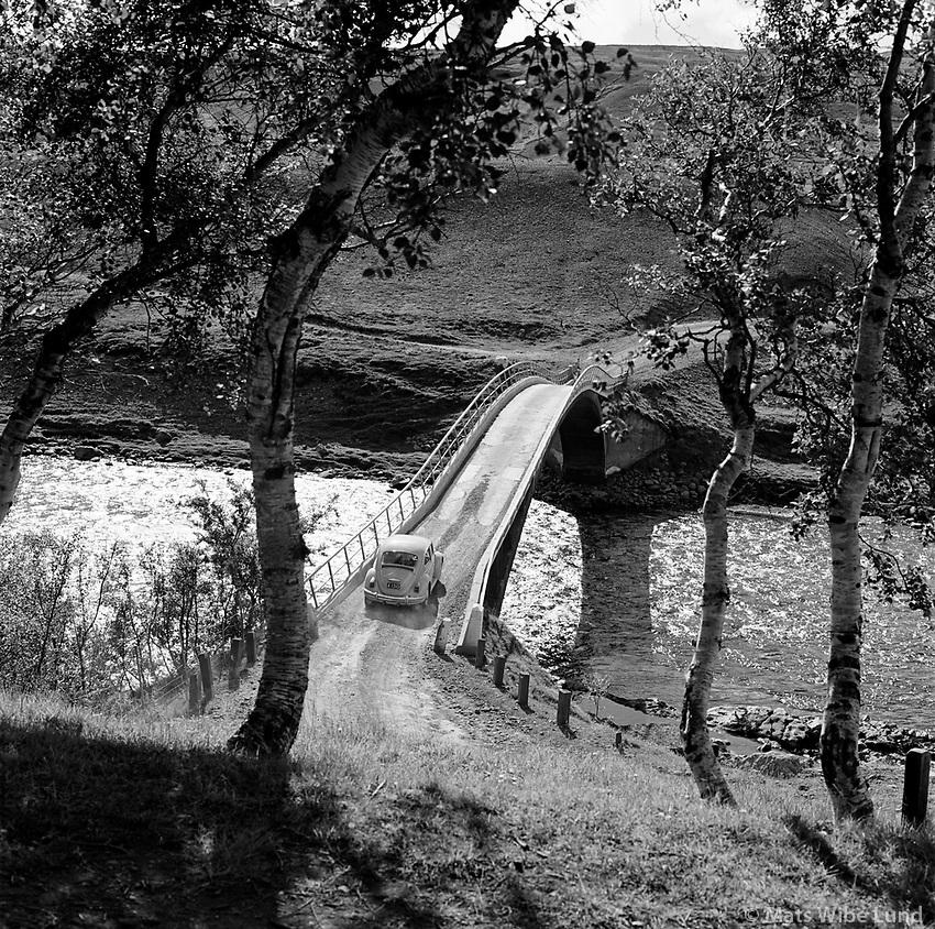 Fnjoskárbrúinn gamli Vaglaskógur, Hálshreppur siðan Þingeyjarsveit. / The old bridge over Fnjoska river near Vaglaskogur forrest, Halshreppur since then Thingeyjarsveit....From the AUGNAGAMAN anniversary exhibition