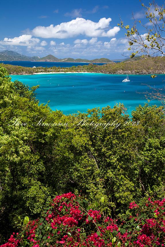 Hawsknest Bay, looking towards Caneel Bay and St. Thomas<br /> Virgin Islands National Park<br /> St. John, U.S. Virgin Islands