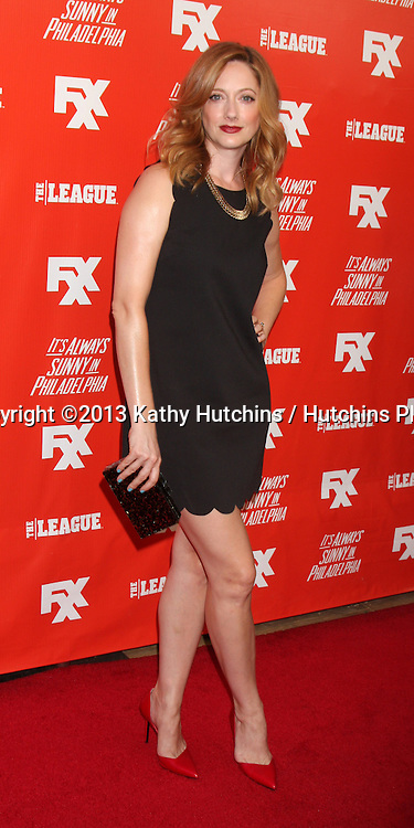 "LOS ANGELES - SEP 3:  Judy Greer at the FXX Network Launch Party And Premieres For ""It's Always Sunny In Philadelphia"" And ""The League"" at the Lure on September 3, 2013 in Los Angeles, CA"