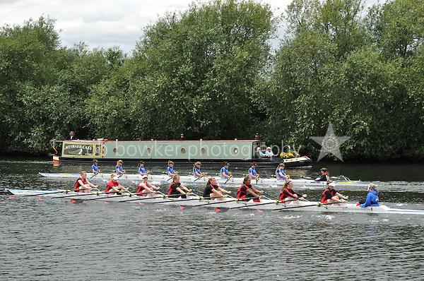 Thames Valley Park Regatta, Reading, Berkshire. 19.06.2011.WJ14 8X+.89 Sir Wm. Perkins's School B.C..90 Great Marlow School B.C
