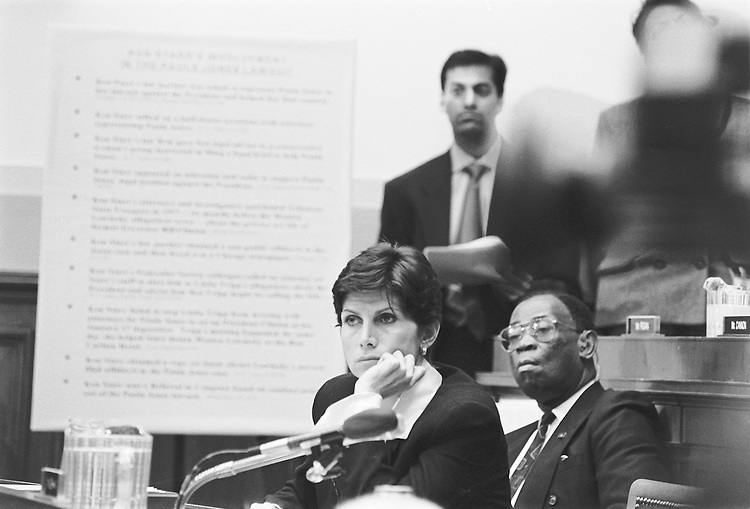 Rep. Mary Bono listens during the impeachment hearings in the house..Shana Raab/@Roll Call