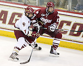 Carl Sneep (BC - 7), Chase Langeraap (UMass - 17) - The Boston College Eagles defeated the University of Massachusetts-Amherst Minutemen 5-2 on Saturday, March 13, 2010, at Conte Forum in Chestnut Hill, Massachusetts, to sweep their Hockey East Quarterfinals matchup.