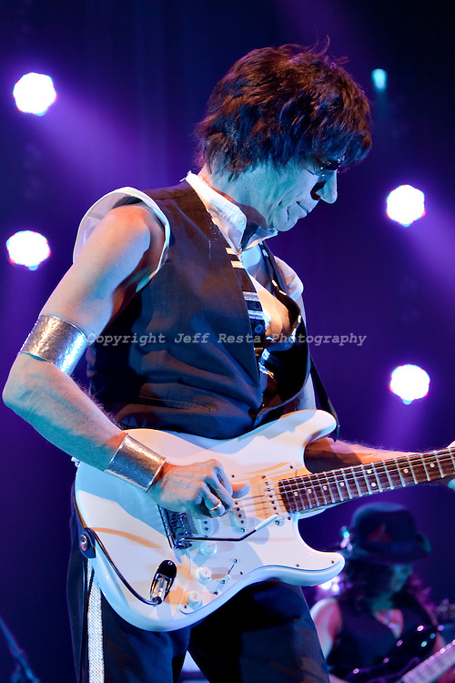 Jeff Beck live concert at Verizon Theatre on April 25, 2010 in Grand Prairie, TX.