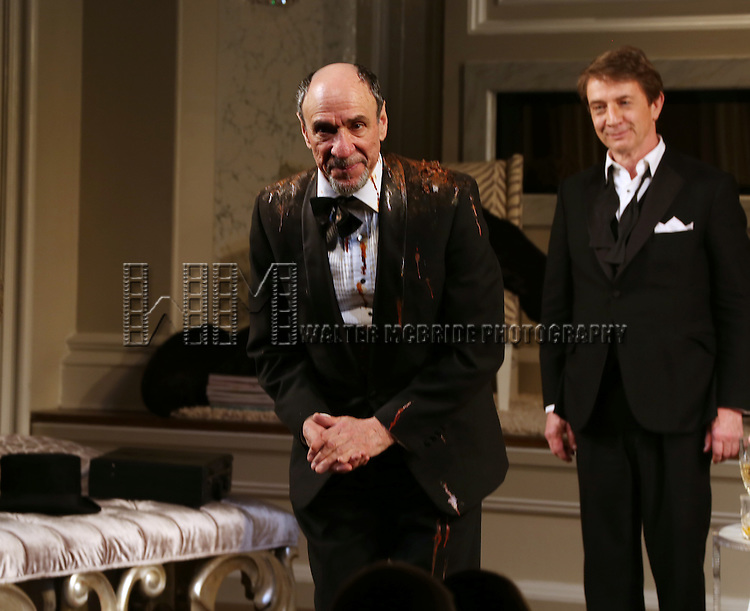 F. Murray Abraham during the re-opening night Curtain Call for 'It's Only A Play' at the Bernard B. Jacobs Theatre on January 23, 2014 in New York City.