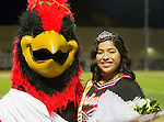 Lawndale, CA 10/07/16 - Lawndale Senior Karen Rauda was crowded Homecoming Queen at the half time ceremonies during the Santa Monica-Lawndale CIF football game.  She'll have to wait until the next day during the homecoming dance to find out who her king will be. in action during the CIF Bay League game between Santa Monica and Lawndale.