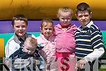 2729-2732. Brian OGorman, Cian OGorman, Shania OSullivan, Aoife OConnor and Jonathon OSullivan, Cromane, at the Cromane GAA Funday on Sunday..