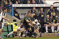 Reading, Berks, ENGLAND, 15.04.2006, Exiles Robbie Russell looks to pass the ball during the  Guinness Premiership match, London Irish vs Leed Tykes, at the Madejski Stadium,  © Peter Spurrier/Intersport-images.com.