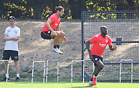 Goncalo Paciencia (Eintracht Frankfurt), Jetro Willems (Eintracht Frankfurt) - 21.08.2018: Eintracht Frankfurt Training, Commerzbank Arena, DISCLAIMER: <br /> DFL regulations prohibit any use of photographs as image sequences and/or quasi-video.