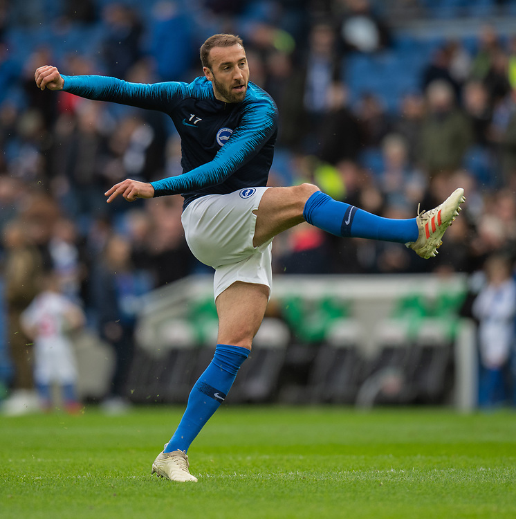 Brighton & Hove Albion's Glenn Murray during pre-match warm-up.<br /> <br /> Photographer David Horton/CameraSport<br /> <br /> The Premier League - Brighton and Hove Albion v Huddersfield Town - Saturday 2nd March 2019 - The Amex Stadium - Brighton<br /> <br /> World Copyright © 2019 CameraSport. All rights reserved. 43 Linden Ave. Countesthorpe. Leicester. England. LE8 5PG - Tel: +44 (0) 116 277 4147 - admin@camerasport.com - www.camerasport.com