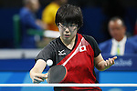 Maki Ito (JPN),<br /> SEPTEMBER 9, 2016 - Table Tennis : <br /> Women's Singles Class 11 Group Stage<br /> at Riocentro - Pavilion 3<br /> during the Rio 2016 Paralympic Games in Rio de Janeiro, Brazil.<br /> (Photo by Shingo Ito/AFLO)