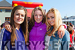 ballylongford girls Maria O'Neill, Aoife Mahony and Alex McDonogh at the KDYS Youth day in the INEC on Sunday