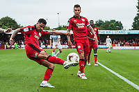 Billy Clifford of Crawley Town (18) (center  during the Sky Bet League 2 match between Crawley Town and Luton Town at the Broadfield/Checkatrade.com Stadium, Crawley, England on 17 September 2016. Photo by Edward Thomas / PRiME Media Images.