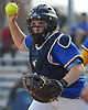 Julianna Budriss #16, West Islip catcher, races up the third base line to induce a successful rundown play in the bottom of the fourth inning a Suffolk County League V varsity softball game against host North Babylon High School on Wednesday, May 9, 2018. North Babylon won by a score of 4-1.