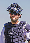 14 March 2014: Detroit Tigers catcher Alex Avila in action during a Spring Training Game against the Washington Nationals at Joker Marchant Stadium in Lakeland, Florida. The Tigers defeated the Nationals 12-6 in Grapefruit League play. Mandatory Credit: Ed Wolfstein Photo *** RAW (NEF) Image File Available ***