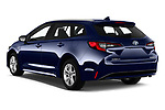 Car pictures of rear three quarter view of a 2019 Toyota Corolla Touring Sports Dynamic 5 Door Wagon angular rear