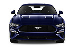 Car photography straight front view of a 2018 Ford Mustang Fastback Ecoboost 2 Door Coupe