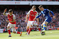 Hector Bellerín of Arsenal and Ross Barkley of Everton during Arsenal vs Everton, Premier League Football at the Emirates Stadium on 21st May 2017