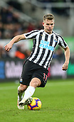 29th January 2019, St James Park, Newcastle upon Tyne, England; EPL Premier League football, Newcastle United versus Manchester City; Winning penalty scorer Matt Ritchie of Newcastle United controls the ball