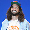 Joakim Noah, a free agent signee of the New York Knicks, poses for photographers at his introductory news conference at Madsion Square Garden Training Center in Greenburgh, NY on Friday, July 8, 2016.