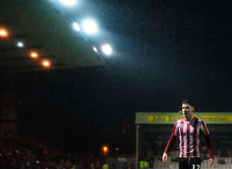Lincoln City's Shay McCartan<br /> <br /> Photographer Chris Vaughan/CameraSport<br /> <br /> The EFL Sky Bet League Two - Saturday 15th December 2018 - Lincoln City v Morecambe - Sincil Bank - Lincoln<br /> <br /> World Copyright © 2018 CameraSport. All rights reserved. 43 Linden Ave. Countesthorpe. Leicester. England. LE8 5PG - Tel: +44 (0) 116 277 4147 - admin@camerasport.com - www.camerasport.com