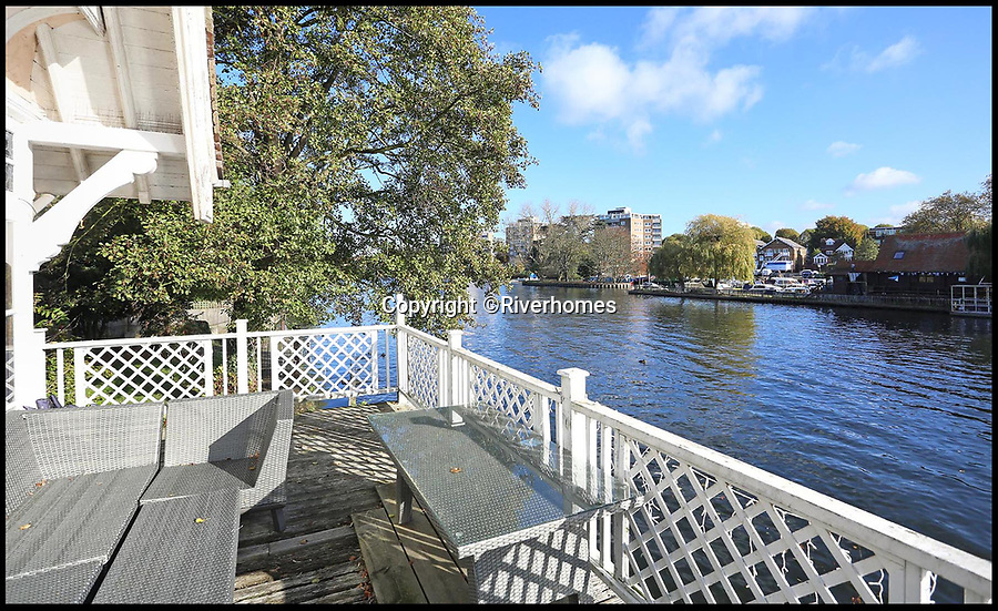 BNPS.co.uk (01202 558833)Pic: Riverhomes/BNPS<br /> <br /> This elegant but dilapidated Victorian boathouse comes with a hefty price tag of £2m thanks to its prime riverside location on the Thames.<br /> <br /> The Grade II* listed property has only 782sq ft of living space but comes with 117ft of idyllic river frontage and a slipway big enough for two sizable boats.<br /> <br /> Velma is in a 0.33-acre plot, so there is plenty of space on site to build a stunning riverside home, but it would be a risky purchase for the new owner as it does not currently have any planning permission in place.<br /> <br /> The boathouse was built in about 1884 for Doctor John Langdon Down, the man who first discovered and developed treatments for Down's Syndrome.