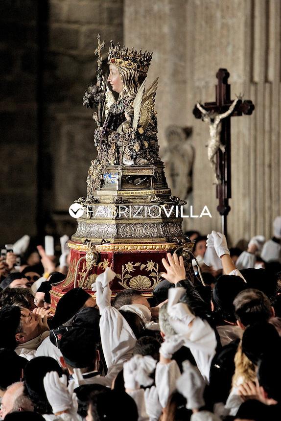 .   Catania, Festa di S.Agata.                .