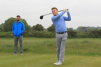 Geoff Lenehan (Portmarnock) on the 2nd tee during Round 1 of The East of Ireland Amateur Open Championship in Co. Louth Golf Club, Baltray on Saturday 1st June 2019.<br /> <br /> Picture:  Thos Caffrey / www.golffile.ie<br /> <br /> All photos usage must carry mandatory copyright credit (© Golffile | Thos Caffrey)