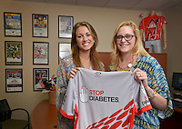 NWA Democrat-Gazette/BEN GOFF &bull; @NWABENGOFF<br /> Malorie Marrs (left), manager for Fundraising and special events with the American Diabetes Association - Northwest Arkansas, and Natalie Burchit, director of the American Diabetes Association - Northwest Arkansas, pose for a photo on Friday July 24, 2015 at the American Diabetes Association office in Bentonville.