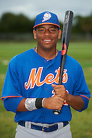 GCL Mets first baseman Dominic Smith (22) poses for a photo after the first game of a double header against the GCL Cardinals on July 17, 2013 at Roger Dean Complex in Jupiter, Florida.  GCL Cardinals defeated the GCL Mets 6-5 in twelve innings.  (Mike Janes/Four Seam Images)