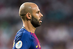 Javier Alejandro Mascherano of FC Barcelona looks on during their Supercopa de Espana Final 2nd Leg match between Real Madrid and FC Barcelona at the Estadio Santiago Bernabeu on 16 August 2017 in Madrid, Spain. Photo by Diego Gonzalez Souto / Power Sport Images
