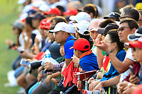 Crowds line the 18th during the 3rd round of the WGC HSBC Champions, Sheshan Golf Club, Shanghai, China. 02/11/2019.<br /> Picture Fran Caffrey / Golffile.ie<br /> <br /> All photo usage must carry mandatory copyright credit (© Golffile | Fran Caffrey)