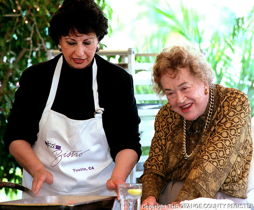 Zov and Julia Child - 5/7/2000. Portfolio only.
