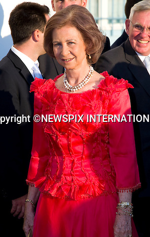 "Queen Sofia_.The Wedding of Prince Nikolaos and Tatiana Blatnik attended by many members of European Royalty at St Nikolaos Church on the Island of Spetses_Grecce_24/08/2010.Mandatory Credit Photo: ©DIAS-NEWSPIX INTERNATIONAL..**ALL FEES PAYABLE TO: ""NEWSPIX INTERNATIONAL""**..IMMEDIATE CONFIRMATION OF USAGE REQUIRED:.Newspix International, 31 Chinnery Hill, Bishop's Stortford, ENGLAND CM23 3PS.Tel:+441279 324672  ; Fax: +441279656877.Mobile:  07775681153.e-mail: info@newspixinternational.co.uk"