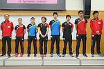 (L to R) <br />  Yasukazu Murakami, <br /> Mima Ito, <br /> Ai Fukuhara, <br /> kasumi Ishikawa, <br /> Jun Mizutani, <br /> Koki Niwa, <br /> Maharu Yoshimura, <br />  Yosuke Kurashima (JPN), <br /> JULY 22, 2016 - Table Tennis : <br /> Japan national team Send-off Party <br /> for Rio Olympic Games 2016 <br /> at Ajinomoto National Training Center, Tokyo, Japan. <br /> (Photo by YUTAKA/AFLO SPORT)