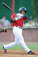 Elizabethton Twins center fielder Eddie Rosario #9 at bat during a game against the Bluefield Blue Jays at Joe O'Brien Field on June 21, 2011 in Elizabethton, Tennessee.  The game was delayed with the score 5-5.  (Tony Farlow/Four Seam Images)