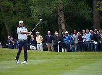 23.05.2015. Wentworth, England. BMW PGA Golf Championship. Round 3.  Thomas Bjorn [DEN] shot on the 6th hole, during the third round of the 2015 BMW PGA Championship from The West Course Wentworth Golf Club