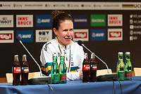 Picture by Richard Blaxall/SWpix.com - 29/09/2018 - Cycling 2018 Road Cycling World Championships Innsbruck-Tirol, Austria - Women's Elite Road Race - Amanda Spratt of Australia winning Silver, Press Conference