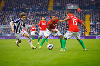 Saturday, 9 March 2013<br /> <br /> Pictured: Billy Jones of West Bromwich AlbionLuke Daniels of West Bromwich AlbionWayne Routledge of Swansea City<br /> <br /> Re: Barclays Premier League West Bromich Albion v Swansea City FC  at the Hawthorns, Birmingham, West Midlands
