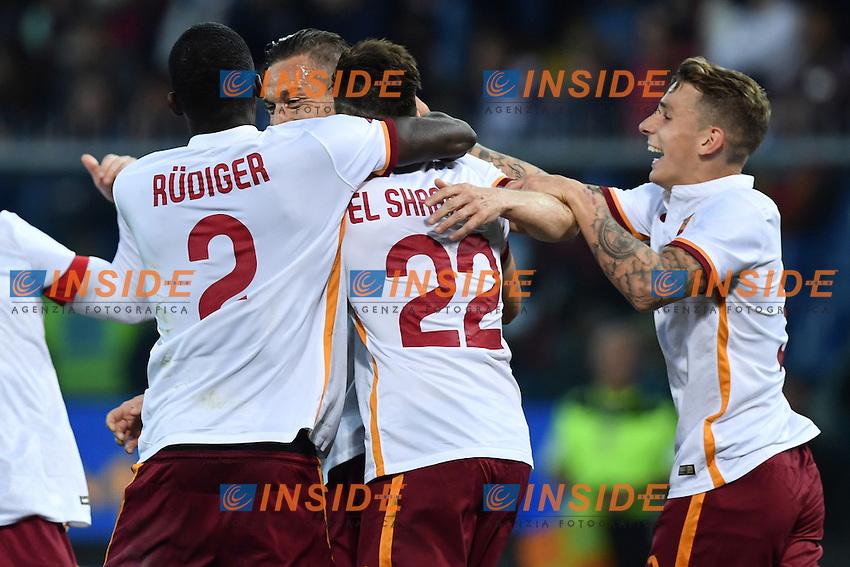Esultanza Gol Francesco Totti Roma 2-2 Goal celebration <br /> Genova 02-05-2016 Football Calcio Serie A 2015/2016  Genoa - AS Roma foto Image Sport/Insidefoto