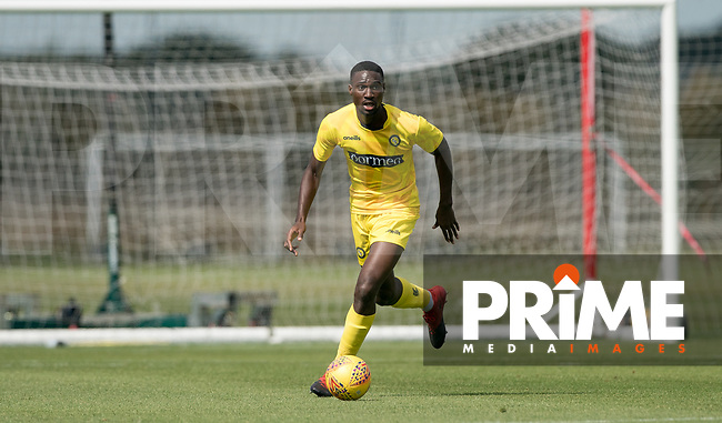 Ben Frampah during the behind closed doors friendly between Brentford B and Wycombe Wanderers at Brentford Football Club Training Ground & Academy, 100 Jersey Road, TW5 0TP, United Kingdom on 3 September 2019. Photo by Andy Rowland.